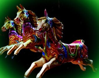 Painted horses.