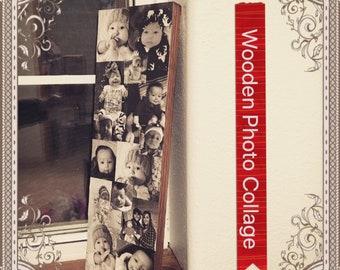 Wood Photo Collage