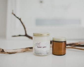 Harbor Woods (frasier fir & amber) - 8 oz pure soy hand poured candle