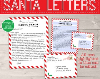 Santa letter etsy personalized letter from santa template printable santa letter template christmas letter template letters pronofoot35fo Images