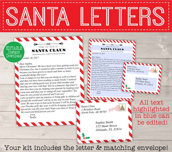 Personalized letter from santa template printable santa letter il570xn spiritdancerdesigns Images