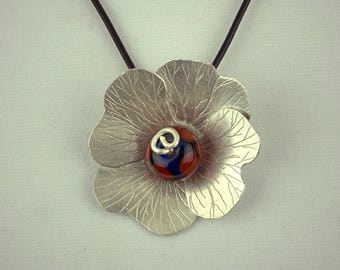Handmade Sterling Silver Floral Necklace