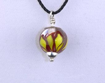 Handmade Lamp-work Pendant Necklace