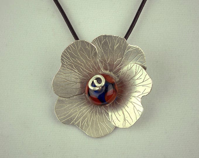 Featured listing image: Handmade Sterling Silver Floral Necklace