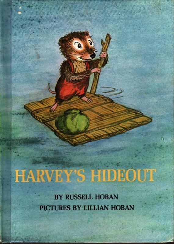 Harvey's Hideout - Russell Hoban - Lillian Hoban - 1969 - Vintage Kids Book