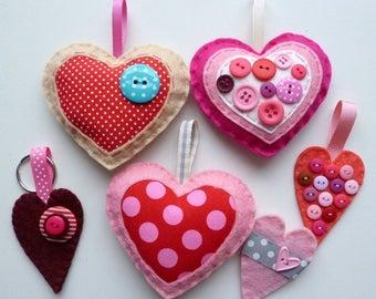 Hearts - Large Kit - Felt sewing kit