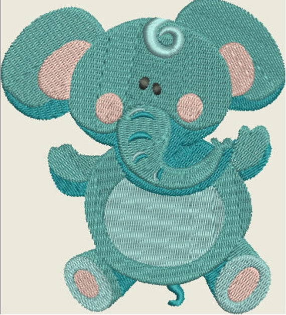 Embroidery Pattern - Cute Elephant