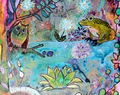 Whimsical Intuitive Painting Mother Nature Art by Carol Iyer