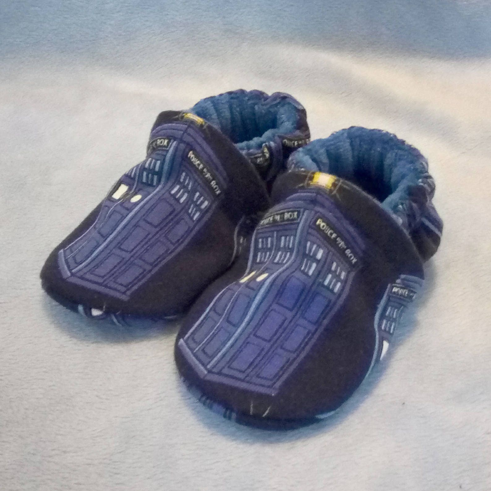 Tardis: Soft Sole Baby Shoes 3-6M