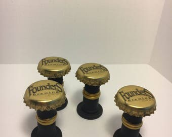 Miniature Dollhouse Bar Stools- Bottle Caps - Founders Brewing - 1:12