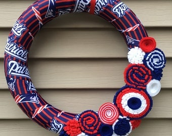 New England Patriots Wreath - Patriots Wreath -NFL Patriots Wreath -NFL New England Patriots Decor -Football Wreath -New England Patriots -