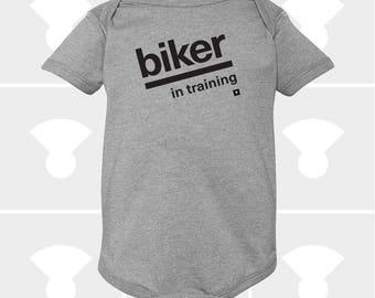 Biker In Training - Baby Onesie