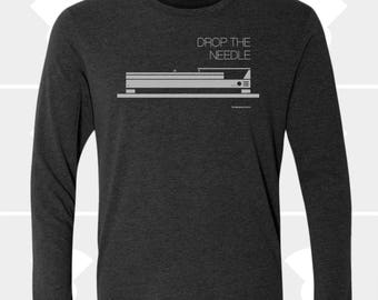 Drop the Needle - Unisex Long Sleeve Shirt (Today Only)