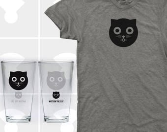 Watson the Cat - Shirt & Pint Glass Set