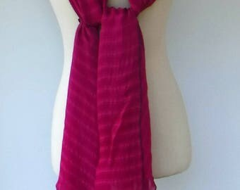 Fuchsia Indian scarf, large wide vintage Scarf, Dupatta stole scarf/woman pink scarf/Bohemian shoulder shawl/handmade cover up travel scarf,