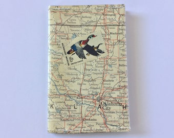 Small Bi-fold Wallet - Vintage Map & Vinyl