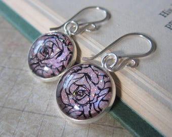 Prism Collection - Coming Up Roses - Color Changing Floral Earrings