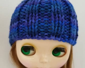 Blythe Hepzibah Hat knitting PATTERN - cute skull cap doll hat toque stocking cap - instant download - permission to sell finished objects