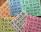 Paper Bingo Cards - Set of 60 - Bingo Sheets, Junk Journal Paper, Journal Ephemera, Planner Supplies, Craft Supplies, Paper Ephemera, Craft