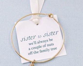 Gift for Sister | Acorn Bracelet, Bangles Band, Gift for Sister, Sister Gift,  Bangle, Gifts for Sisters, Sister Boho Gift | S06
