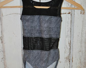 Madelaine Leotard Ready MAde in Size 6 Lycra and stretch mesh