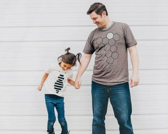 Dad and Baby Matching Shirts, New Dad Gift, Clothing Gift Men, Father Daughter Shirts, Father Son, Hive Honey Bee T Shirt Set, Husband Gift