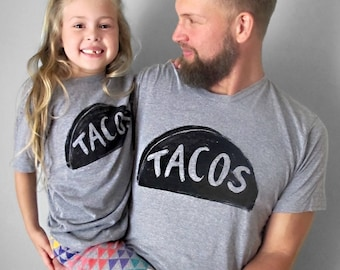 New Dad Gift, TACO Tshirts, Father Daughter Matching Shirts, Father's Day Gift, Father son matching tshirts dad baby shirts daddy and me