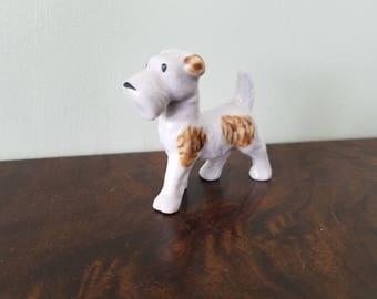 Vintage Porcelain Terrier Dog Made in Japan, Ceramic, Mid-Century
