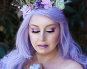 Forest Fantasy Crown, Flower Crown, Floral Crown, Butterfly Crown, Headpiece, Fairy, Renaissance, Costume