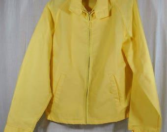 Weather Breaker Men's Yellow Zip-Up Light Jacket Size Medium Tall