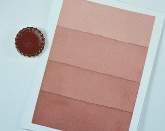 Full Pan or Large Cap - Rust Earth Red, Anthesis Arts Artisanal Handcrafted Handmade Watercolor Paints, Choose Your Size