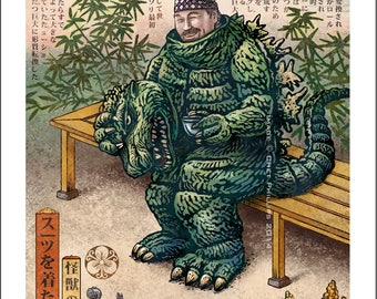 Kaiju Man- Limited Edition Signed Print