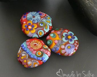 """Handmade lampwork beads  