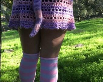Crocheted Cheshire Cat Tail