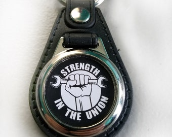 Strength In The Union Keychain