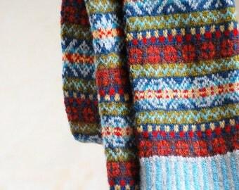 PDF Knitting Pattern Fair Isle Scarf