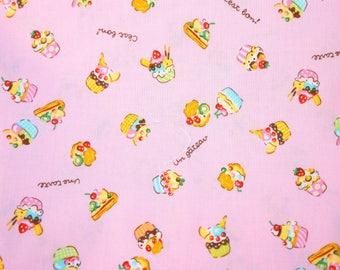 Cupcake print Japanese fabric half meter nc54