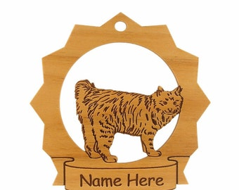 American Bobtail Cat Personalized Wood Ornament 087013  Personalized With Your Cat's Name