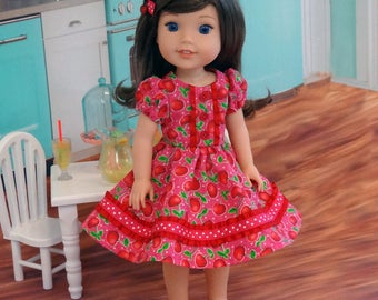 Cherry Sweet - Dress & shoes for Wellie Wisher doll