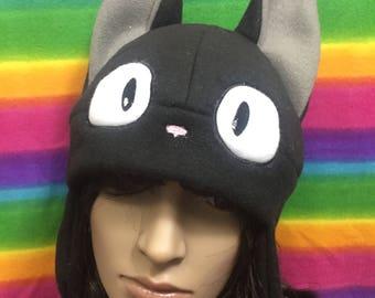 Studio Ghilbli Jiji the Cat Kiki's Delivery Service Anime Fleece Plush Cap Hat Beanie