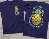 team Teacher shirts - teach like a pineapple gold foil personalized DARK tshirt  MSCL-042v
