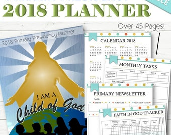 EDITABLE 2018 Primary Presidency Planner - INSTANT DOWNLOAD