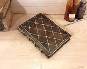 Leather journal, Brown with Gold decoration, A Small Treasure
