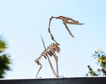 Pterosaur Skeleton Model / Puzzle - Laser-Cut Baltic Birch Dinosaur