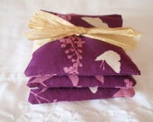 SUMMER SALE - Handmade Lavender Sachet, Swallow Study in Purple Lavender, Eco Friendly Dryer Sheets, Air Fresheners, Dryer Sheets - SET of 3