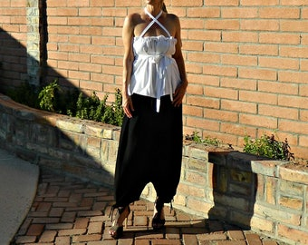 Boho Pants-Harem Pants-Harem Pants Women-Hippie Pants-Wide Leg Pants-Harem Pants Plus Size-Women Harem Pants-Boho Chic-Black Gauze XS-XXL