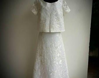 Laure de Sagazan Skirt Allais And Top Avila Inspired Wedding Dress
