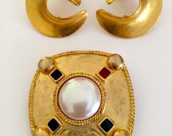 Earring and Pin Set