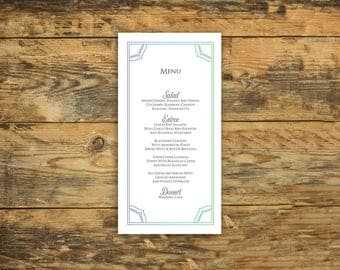 Mandala Graphic Design Flat Wedding Menu, Dinner Reception Menus