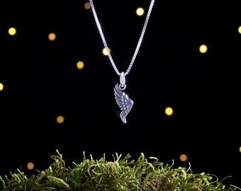 Sterling Silver Wing - Small, Double Sided - (Charm, Necklace, or Earrings)